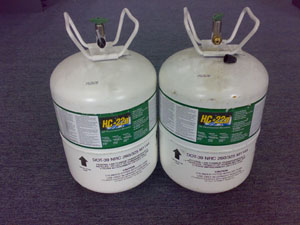 Hydrocarbon refrigerant green gas, HC-12a, HC-22a & HC-502a  HC
